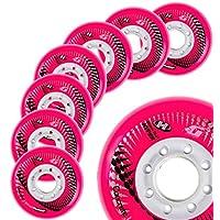 Hyper Wheels 混凝土 +G - 8 轮 - 84A - N1 世界内联滑轮 - 72MM、76MM、80MM 尺寸 - 适合健身、自由活动、Slalom、都市