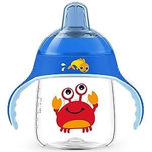 AVENT 新安怡 卡通企鹅 鸭嘴杯200ml(实际容量260ml) 12个月+ 蓝 (产地:印度尼西亚) SCF753/16