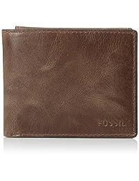 FOSSIL 男式 RFID 屏蔽皮革 derrick 证件套皮夹
