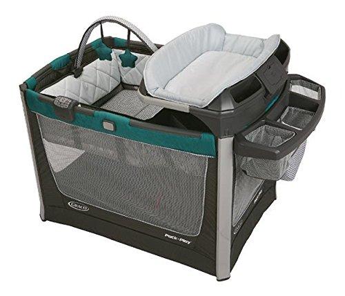 GRACO 葛莱 多功能儿童床 便携儿童音乐游戏床 移动尿布更换台 (蓝色) 1893799