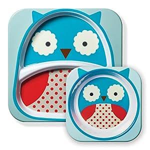 美国Skip Hop可爱动物园餐具碗碟套组-猫头鹰SH252203