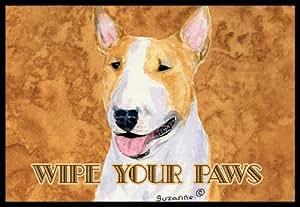 "Caroline's Treasures Bull Terrier Wipe Your Paws Indoor or Outdoor Mat, 18"" x 27"", Multicolor"