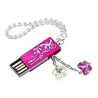 PNY 可爱拉奇施华洛世奇水晶 2.0 USB 闪存盘Lovely Attache Flower 32GB