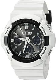 Casio 卡西欧 男士 G-Shock 石英手表 树脂表带 白色 29(型号:GAW-100B-7ACF)