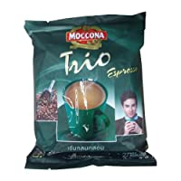 Moccona Trio 速溶咖啡混合浓咖啡 3 合 1 18g 装 27 张贴纸泰国产品