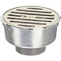 三荣水栓 【浴室排水口用单圈】 排水口SU、VU管两用 100X50 H50-100X50