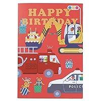 学研ステイフル 誕生日カード ミュージックカード 消防車 B88163