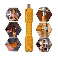 (8合1)水龙头和水槽安装器,多功能扳手管道工具,适用于马桶碗/水槽/浴室/厨房水槽等
