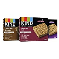 KIND 健康谷物棒,双重黑巧克力,肉桂燕麦和枫糖南瓜,5支(3件装)