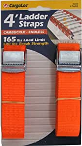 CargoLoc Lashing and Luggage 绑带带带侧面释放扣 1-Inch x 4-Foot x 500-Pounds 84049