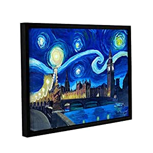 "Tremont Hill Marcus/Martina Bleichner""Starry Night London Parliament ""画廊包装地板画框油画 蓝色 24X32"" 0ble225a2432f"