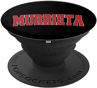 MURRIETA CA 加利福尼亚大学校队风格 美国复古运动 PopSockets 手机和平板电脑260027  黑色