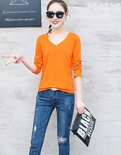 NSF 韩版纯色打底衫长袖T恤女上衣学生百搭糖果色修身衫