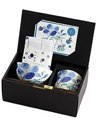 山下工艺 礼盒套装 花水木 23×10.5×H9.8cm 饭碗茶杯套装 带手帕 45015540