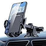 DesertWest 汽车手机支架,360 度旋转汽车手机支架,挡风玻璃和仪表板支架,带伸缩长臂,兼容 iPhone X/8/7P/5、Galaxy S6/7 Note 8 等。