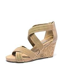 toetos 女式 solsoft 低坡跟后拉链凉鞋 15-nude 10 B(M) US