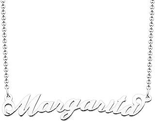 月光系列交织字母项链个性化铭牌项链 Margarita