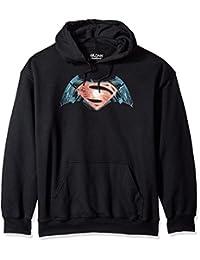 Trevco Men's Batman Vs. Superman Industrial Logo Hoodie Sweatshirt