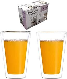 Amlong 水晶双壁玻璃杯 透明 BEER MUG - 2PK 43235-106576