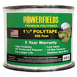 Powerfields 1.5 Inch Poly Tape 白色 660' Roll