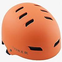 TOKER 死飞单车自行车骑行头盔轮滑运动硬壳护具装备配件 哑光橙色 L码58-60