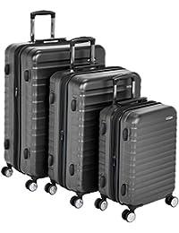 AmazonBasics 亚马逊倍思 Premium硬壳拉杆行李箱配有 内置TSA锁 三件套组 (55 cm, 68 cm, 78 cm) 黑色