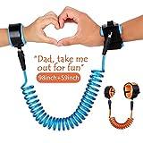 wimaha children 防盗腕带 skin 环保防 pricking 棉质手腕带 Blue + Orange 1.5m + 2.5m