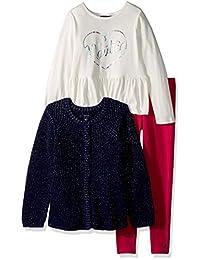 Nautica 大女童三件式毛衣套装