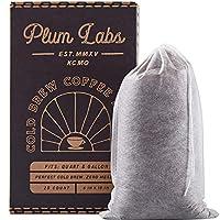 DIY 冷酿咖啡过滤器 – 一次性,易填充,细网一次性冲泡袋,适用于浓缩冰咖啡机。 适合宽口梅森罐,2 夸脱(约 6.7 升)水罐和加仑容器