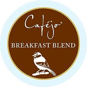 Cafejo K-Cups, Breakfast Blend Coffee, 50 Count