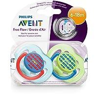 Philips AVENT不含 BPA的新款婴儿安抚奶嘴,两件装 颜色可能有所不同。 6-18 个月