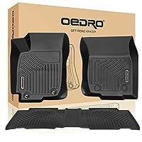 oEdRo 2013-2018 丰田 RAV4,独特黑色 TPE 全天候防护包括* 1 排和*二排:前、后、全套衬垫(不适用于混合或电动)