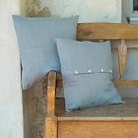 LinenMe Linen Décor Lara Pillow Case, 26 by 26-Inch, Lake Blue