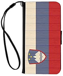 Rikki Knight iPhone 6 & 6s PU 钱包翻盖手机壳 - 人素描RK-Flip6iPhone8789 Slovenia Flag on Distressed Wood Slovenia Flag on Distressed Wood