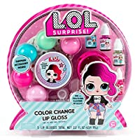 L.O.L. Surprise! Horizon Group Usa 变色唇彩,混合并创造5种变色,多种口味的唇彩,DIY唇彩制作套件,包括容器和装饰贴纸