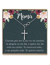 Regalo para Madre,Mamá,Día de la Madre,Cumpleaños,Día de la Mujer,Infinity Cross