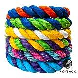 Ravenox 彩色扭曲棉绳   美国制造   定制颜色三绳绳和绳索,适用于运动、装饰、宠物玩具、工艺品、金刚石和室内室外使用   脚部和直径 5/8 Inch x 10 Feet 黑色 ZC-BR-1Black-10-5.8