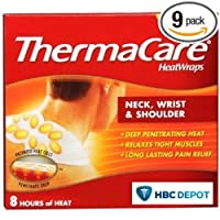 ThermaCare 空氣激活熱敷帶,頸部,手腕和肩部,3 個熱敷帶 9 Count