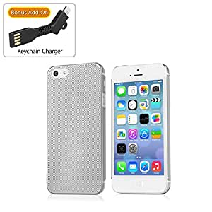 Apple iPhone SE AluMinimus 手机壳 - 薄型硬壳铝合金手机壳 iPhone SEbw-1019-13997-7301 金属银