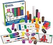 Learning Resources 早期數學鏈接多維數據集套裝,各種顏色,115件,適合4歲以上的人群