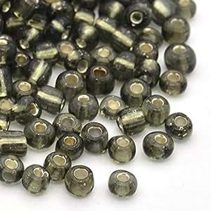 PEPPERLONELY 50 克 8/0 银色内衬玻璃珠 3 毫米 JK5. Light Grey