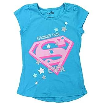 DC Comics 女童超人徽标闪光 T 恤 蓝色 6