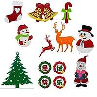 与同 圣诞节无纺布幼儿园教室无纺布圣诞老人吊饰 麋鹿雪人贴 幼儿园布置挂饰 吊饰 圣诞套装/1套