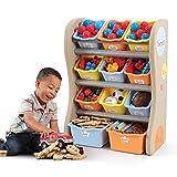 STEP2 晋阶 儿童玩具收纳架 空间收纳大师 728900 暖色728900