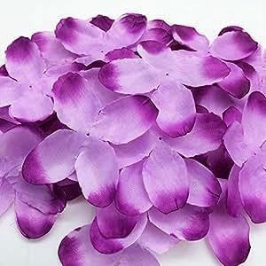 PEPPERLONELY 品牌面料花朵 4 瓣,约 28.35 克 + 花瓣,127mm (12.7 cm) 8#. Purple ROSEFABRIC-5INCH4P-9