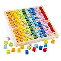 New Classic Toys 10511 乘法表托盘,多色