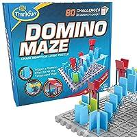 Think Fun 多米诺骨牌迷宫STEM玩具和逻辑游戏,适用于8岁以上男孩和女孩-将多米诺骨牌的乐趣与难题的挑战结合在一起