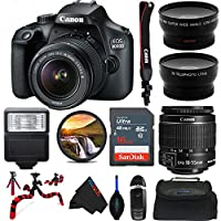 Canon 佳能 EOS 4000D 数码单反相机 18-55mm 镜头 - Pixi 高级套装(国际版)