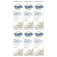 Tom's of Maine Luminous White Toothpaste, Natural Toothpaste, Whitening Toothpaste, Spearmint, 4 Ounce, 6-Pack