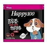 Wanpy顽皮Happy100狗零食醇香牛肉棒400g*3
